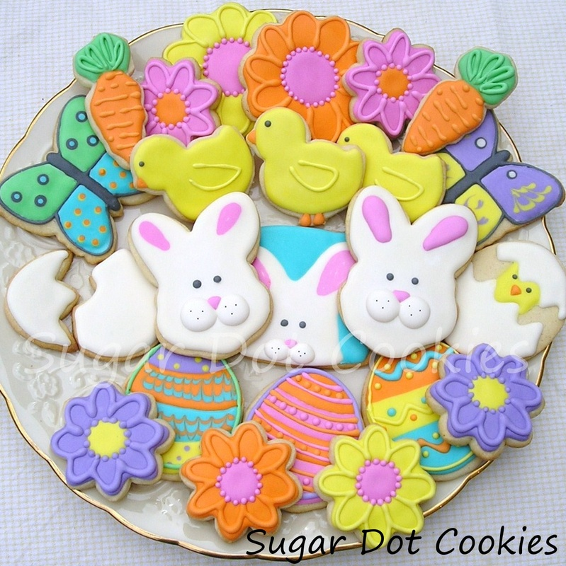 Easter Cookies Sugar Dot Cookies Handmade