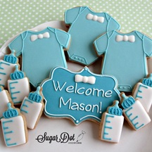 Custom Sugar Cookies Decorated With Royal Icing To