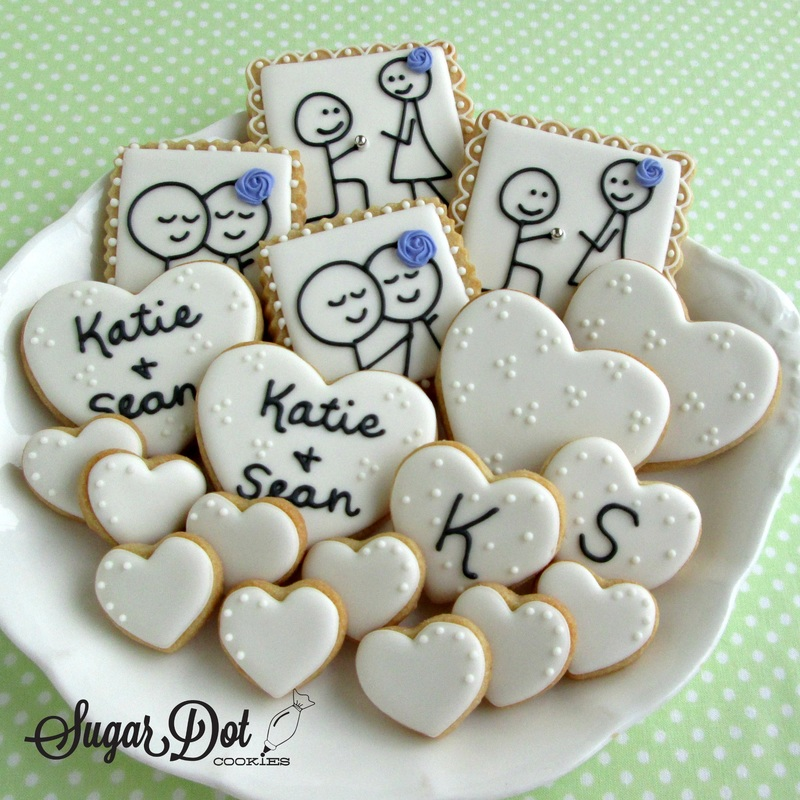 Wedding Custom Sugar Cookies, Frederick, MD Maryland favors beach ...