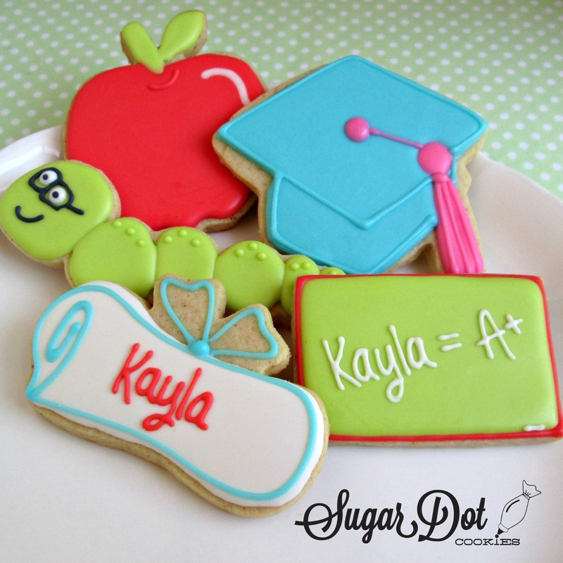 Custom Sugar Cookies Decorated With Royal Icing School Kids