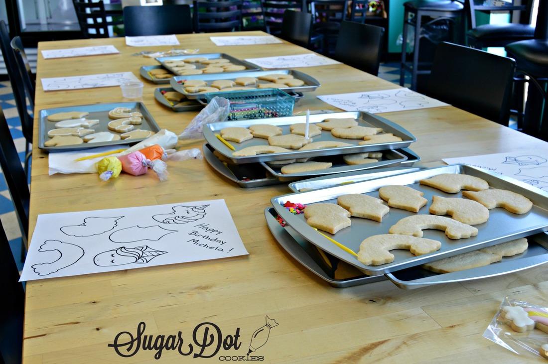 Kids Birthday Parties Decorating Sugar Cookies With Royal