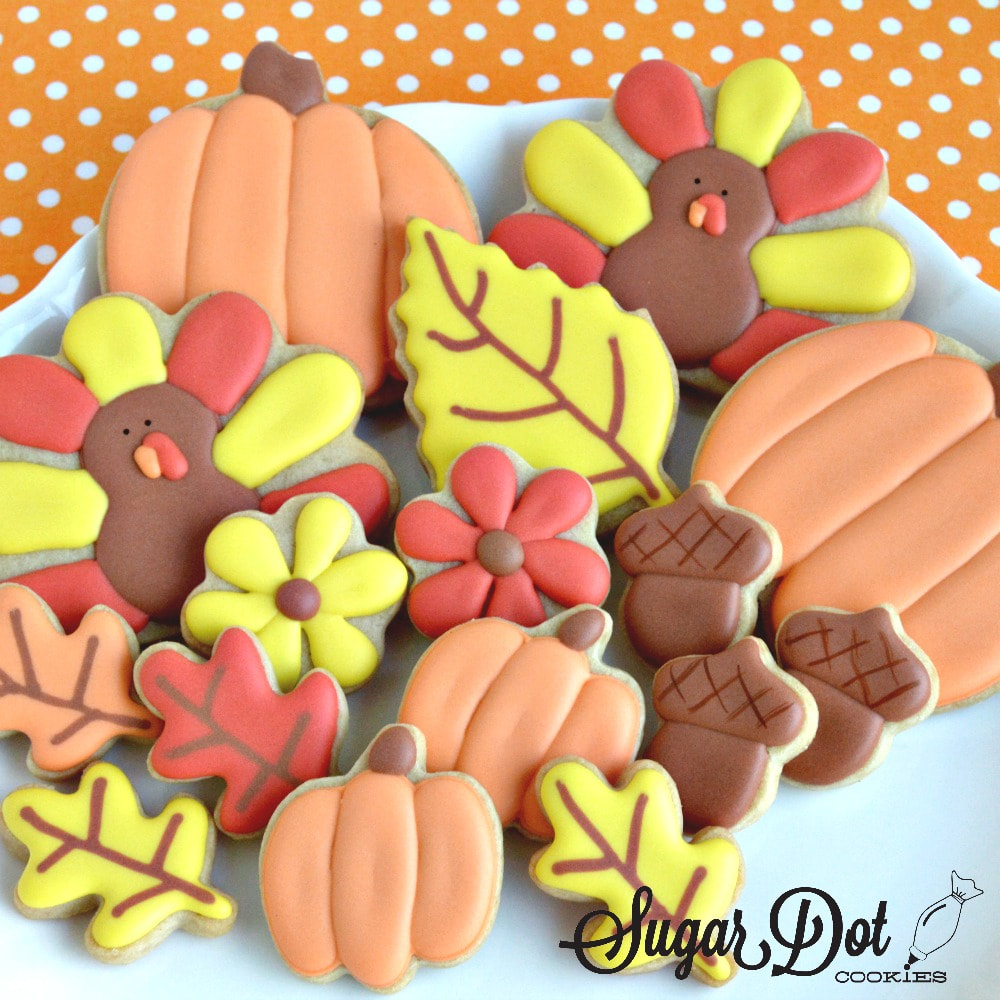 Thanksgiving Sugar Cookies Custom Decorated Frederick Md Sugar